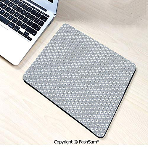Desk Mat Mouse Pad Circular Shapes Pattern with Oval Details and Plus Signs Modern Abstract for ()