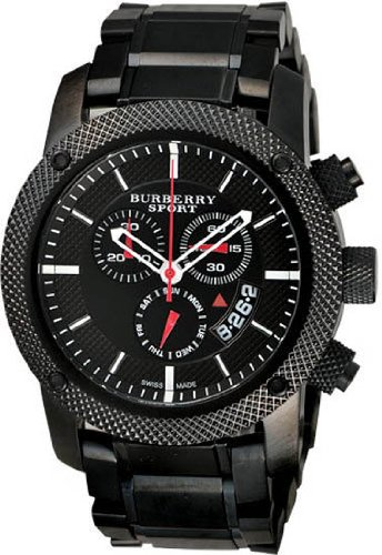 Sport Men's Chronograph Watch Color: Black / - Burberry Colours