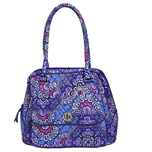 Vera Bradley Turnlock Satchel in Lilac Tapestry 15679669