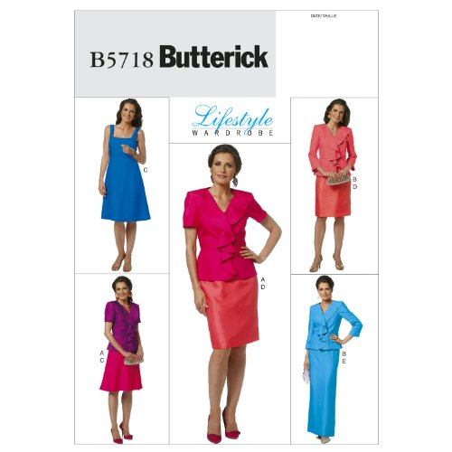 Butterick Patterns b5718nbsp;Schnittmuster Jacke Kleid und Rock ...