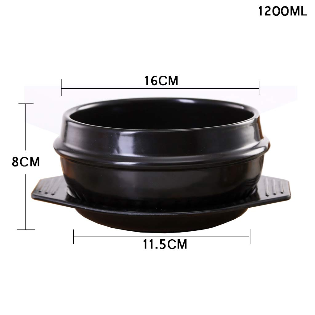 Kitchen Cookware Ceramic Non-Stick Casserole Stew Pot Boiled Noodles with Handle with Lid Stone Pot