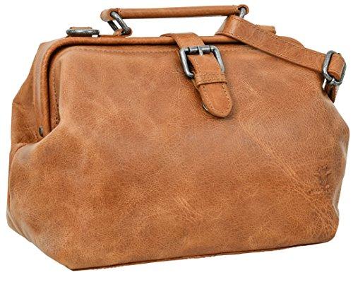 "Gusti Cuir studio ""Lillith"" sac à main sac de soirée sac pour sortir sac de loisir sac en bandoulière homme femme cuir de buffle marron clair 2H70-20-1"