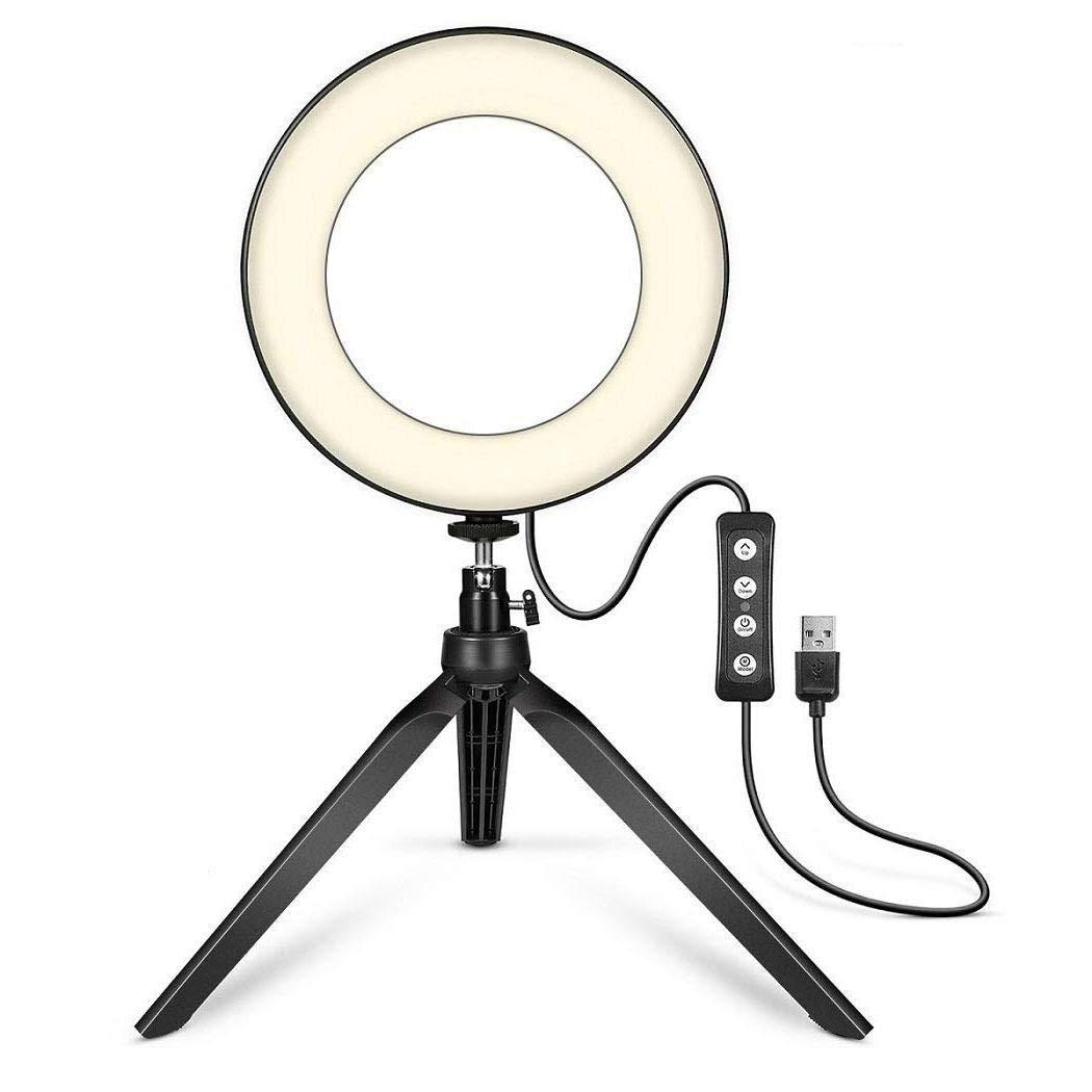 amiubo Transmitir fotografía en Vivo Luz de Relleno Cámara LED Flash Luz Regulable Flashes con Zapata
