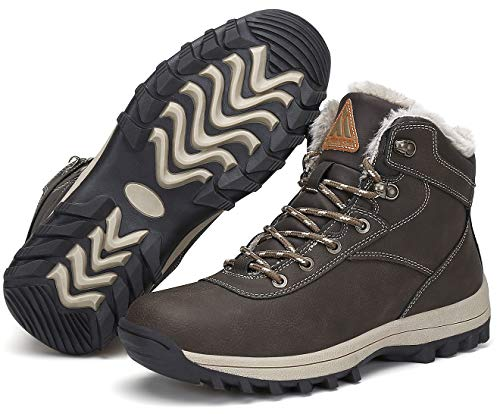 Mishansha Bottes Homme Chaude Hiver Chaussures Antidérapant Chaussures de Randonnée Imperméable 7