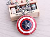 Captain America the Avengers Star Shield Necklace Pendant