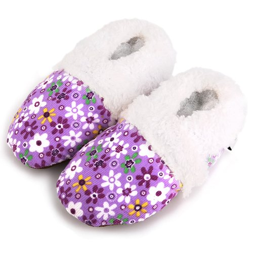 Flower Fur Lined Sole Soft Shoes Augusta Baby Purple wqgPtg