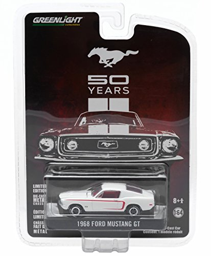 1968 FORD MUSTANG GT (White) * MUSTANG 50 YEARS * 2015 Greenlight Collectibles Anniversary Collection Series 2 Limited Edition 1:64 Scale Die-Cast Vehicle