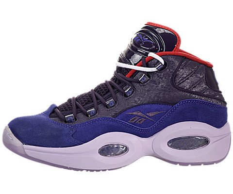 Reebok Question Mid Basketball Shoes - Purple Ink/Fearless Purple-Purple/Oasis-Red (Mens) - 13