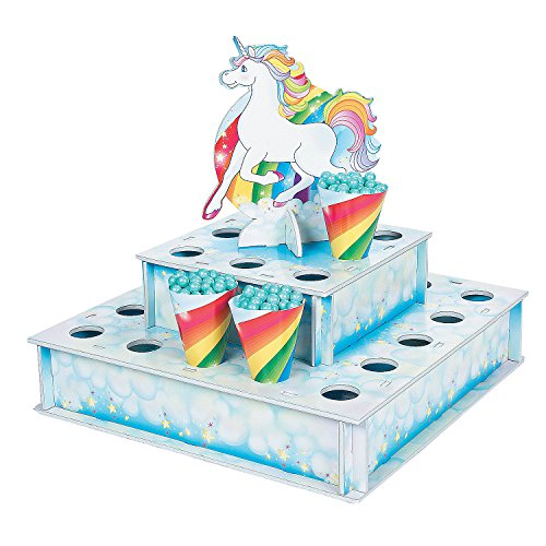 Unicorn Treat Stand with Cones (Stand Unicorn)