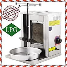 PROPANE GAS 1 BURNER Spinning Grills Vertical Broiler Shawarma Gyro Doner Kebab Tacos Al Pastor Grill Machine for Home use ( Small )