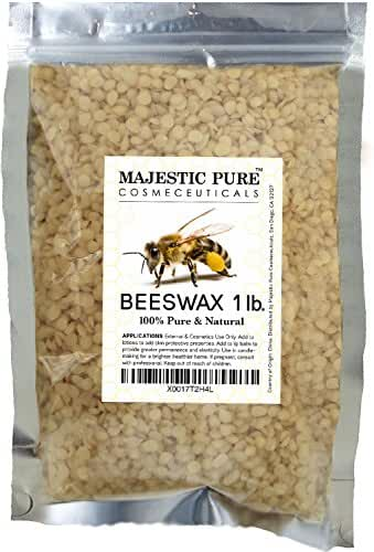 Majestic Pure Beeswax Pellets, Natural Yellow, 1 lb