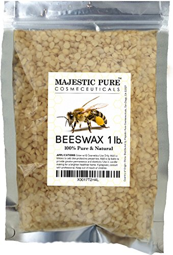 Majestic Pure Beeswax Pellets, Natural Yellow, 1 (Buy Black Light Paint)
