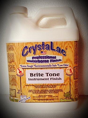 CrystaLac Brite Tone Instrument Finish Gloss QUART, Waterbased Polyurethane (Crystalac Finishes)