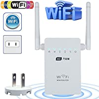Wifi Range Extender, LinkStyle AC750 750 Mbps Wifi Repeater Signal Booster Amplifier Dual Band 2.4GHz/5GHz with Ethernet Port Antenna 802.11 ac/b/g/n AP/Router/Repeater Mode Full Coverage