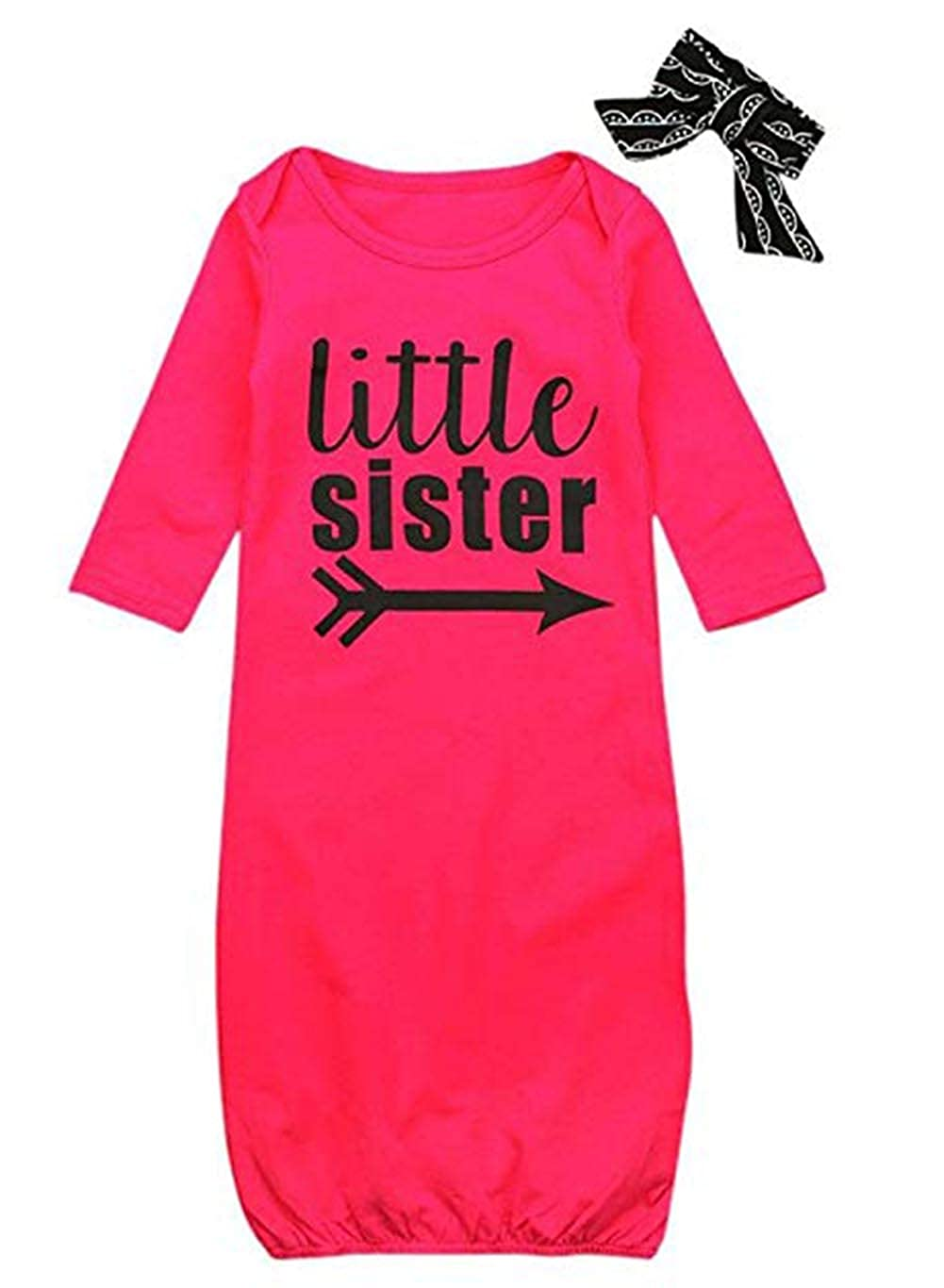 Newborn Baby Girl Litter Sister Sleeping Gown,Swaddle Sack Coming Home Outfit Sleepwear Romper Sleeping Bags Clothes
