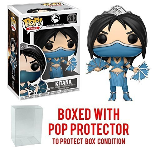 Funko Pop! Games: Mortal Kombat - Kitana Vinyl Figure (Bundled with Pop BOX PROTECTOR CASE) -