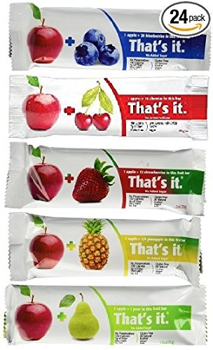 That's It Fruit Bars, 6 Flavors Variety Pack (Pack of 48)