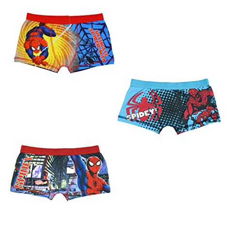 3 Pack Boys Spiderman Pants Boxer Shorts - Age 7 to 8 Year - 7-8 Years (128 cms)