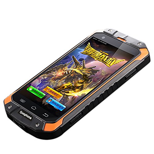 Yunt Mobile Phone, 4.0inch QHD Touch Screen Android 4.4 MTK6572 Dual Core Dual Cameras 3G Smartphone, RAM 1GB + ROM 8GB, IP68 Waterproof Shockproof Dual SIM Mobile Cell Phone Orange by Yunt