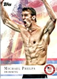 2012 Topps US Olympic Team #100 Michael Phelps Swimming ENCASED U.S. Olympic Trading Card!
