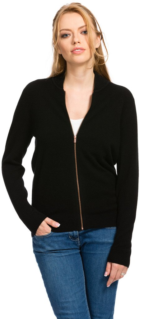 Cardigans for Women - 100% Cashmere - Citizen Cashmere (Black S) 41 103-02-01