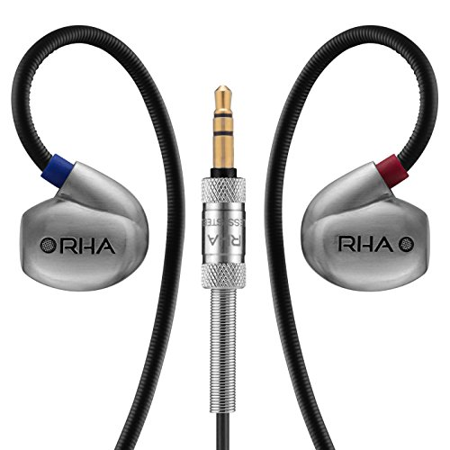 RHA T20 (Gen. 2): DualCoil HiFi Noise Isolating Stainless Steel In-Ear Headphones with Tuning Filters