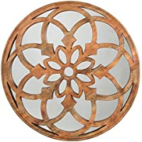 Ashley Furniture Signature Design - Oilhane Floret Carved Wood Wall Mirror - Natural