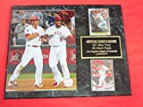 J & C Baseball Clubhouse Mike Trout Albert Pujols Anaheim Angels 2 Card Collector Plaque w/8x10 Photo!