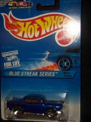 Hot Wheels 1997 Blue Streak Series #2 '55 Chevy #575 1:64 (2 Blue Wheels)