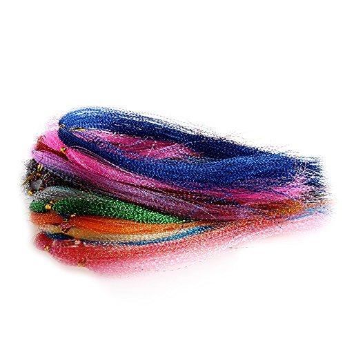 Delight eShop 100Pcs/Bag Crystal Flash Fly Tying Material Fishing Lure Tying Making DIY Craft