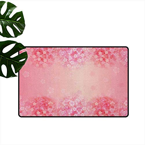 - RenteriaDecor Light Pink,Carpets Doormat Plum Blossom Botany Beauty Natural Spring Flowers Seasonal Background Print 20