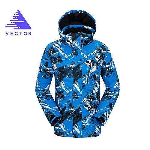 YUNY Men Warm Mid-Long Hood Plus Size Windproof Puffer Jacket Blue L