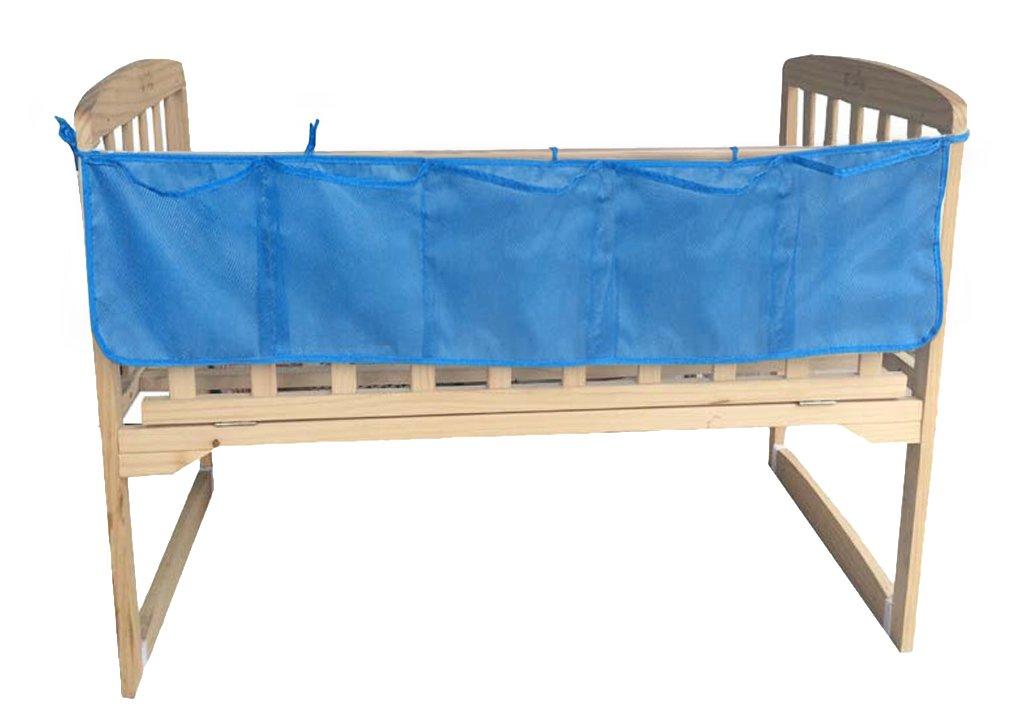 Praktische Kinderbett Hängeorganizer, Kinderzimmer Einfarbig hängende Aufbewahrung Windeln Organizer Ordnungssysteme 120*25cm BAO CORE