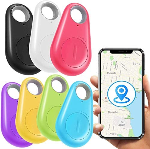 [New Upgraded]7 Pack Key Finder Smart Tracker,Wireless Anti-Lost Alarm Sensor Item Finder GPS Tracker Locator for Kids Pet Dogs Cats Car Phone Purse Luggage Small Things Selfie Shutter Tracking Device