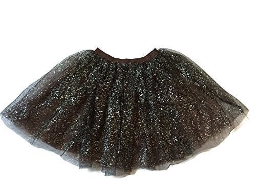 [Rush Dance Ballerina Girls Dress-Up Sparkling Glitter Costume Recital Tutu (One Size, Coffee)] (Cute Dance Recital Costumes)