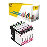 New York Toner New Compatible 5 Pack LC103 M XL High Yield Inkjet For Brother MFC MultiFunction Printers : MFCAN-J4410DW | MFCAN-J4510DW . -- Magenta