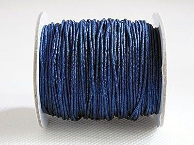 ROYAL BLUE 1.2mm Chinese Knot Nylon Braided Cord Shamballa Macrame Beading Kumihimo String (50yd Spool)