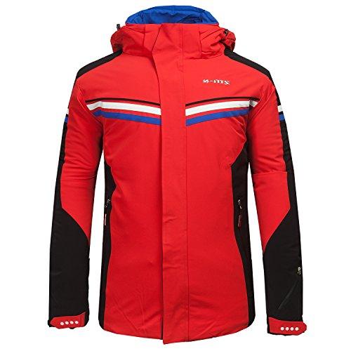 Uomo Giacca All'aperto Xms Rosso Traspirante Neve Sport Invernali Cappuccio Cotone Con Impermeabile Di In Antivento Snowboard Cappotto Sci Imbottita qHpOYORa