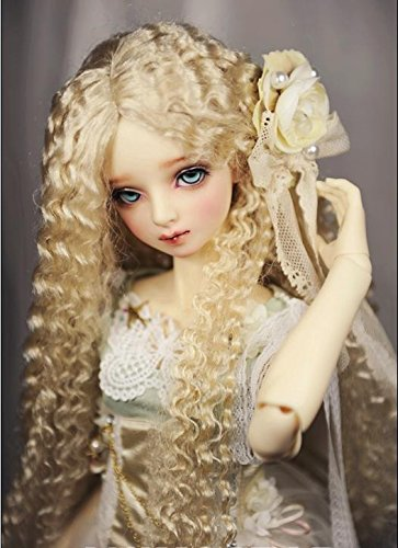 JD220 Extremely Long Sauvage BJD Wig Synthetic Mohair Doll Accessories (Blond, 8-9inch) ()