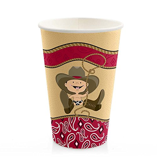 Little Cowboy - Western Hot & Cold Drinking Cups (8 count)