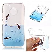 Moto G 5th Gen Case, Moto G5 Case, Ngift [Penguin] Soft Skin Slim Silicon Case Cover [Drop Protection] TPU Case Cover for Motorola Moto G (5th Generation) / G5 4G LTE XT1671
