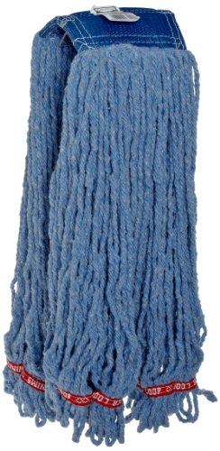 Blue Flame Synthetic Blend (Rubbermaid Commercial FGC25406BL00 Swinger Shrinkless Wet Mop Head, 5-inch Headband, Extra-Large,)