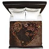 CafePress - Steampunk Heart - King Duvet Cover, Printed Comforter Cover, Unique Bedding, Microfiber