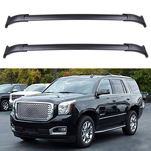 ECCPP 2 Pcs Aluminum Roof Rack Cross Bars Cargo Bar Rails Fit for 2015-2018 Cadillac Escalade/Cadillac Escalade ESV/Chevrolet Suburban/Chevrolet Tahoe/GMC Yukon/GMC Yukon XL