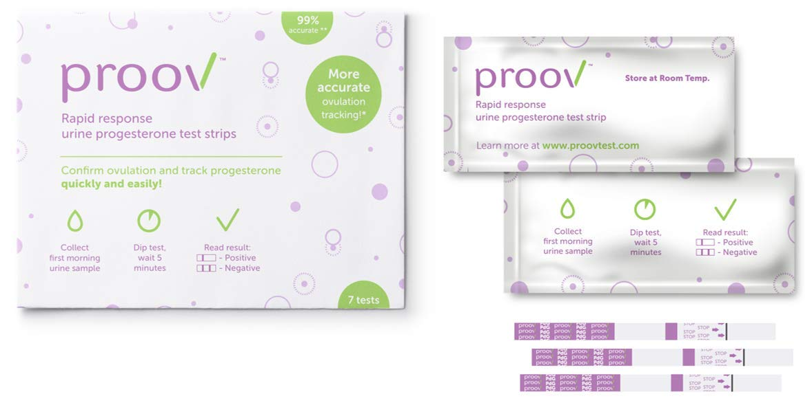 Proov Progesterone Test Strips (21 PdG Test Strips) - Confirm Ovulation at Home in 5 Minutes | Fertility Tracking Kit by Proov