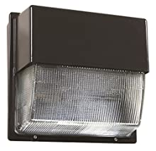 Lithonia Lighting ALO 50K Adjustable Light Output Dark Bronze Twh Glass Lens LED Wall Pack, 5000K | Daylight