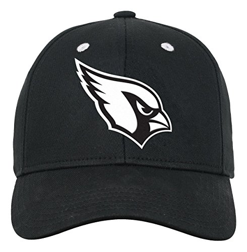 Arizona White Sport Hat (NFL Youth Boys Black and White Structured Adjustable Hat-Black-1 Size, Arizona Cardinals)