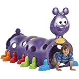 ECR4Kids ELR-12511 Indoor/Outdoor Peek-A-Boo Caterpillar Climbing Play Structure for Kids