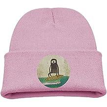 Msiiks Surfing Sloth Children's Knit Hat, Warm and Dirty Bones Hat.