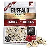 Buffalo Range Rawhide Dog Treats | Healthy, Grass-Fed Buffalo Jerky Raw Hide Chews | Hickory Smoked Flavor | Jerky Mini Bone, 20 Count Review